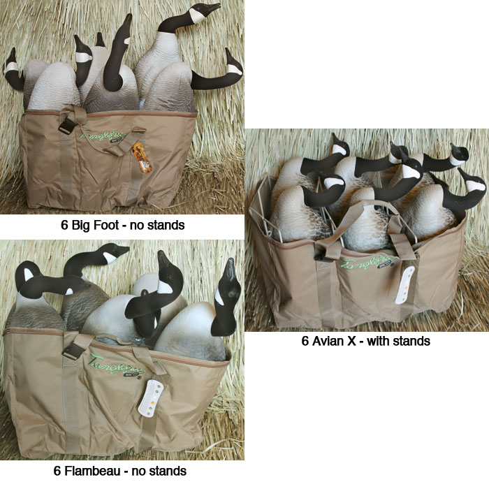 Six Deep Slotted Pockets Padded And Adjule Backpack Shoulder Straps Zippered Top Made From Tough 600d Carries Most Full Body Goose Decoys